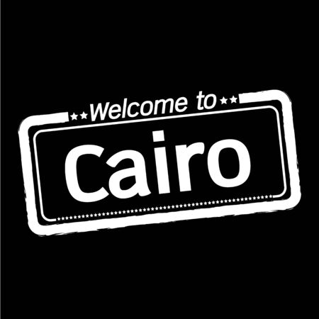 cairo: Welcome to Cairo city illustration design
