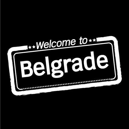 belgrade: Welcome to Belgrade City illustration design