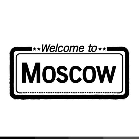 moscow city: Welcome to Moscow City illustration design