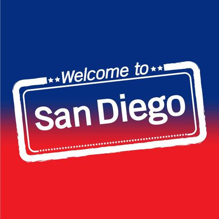 san diego: Welcome to San Diego City illustration design Illustration