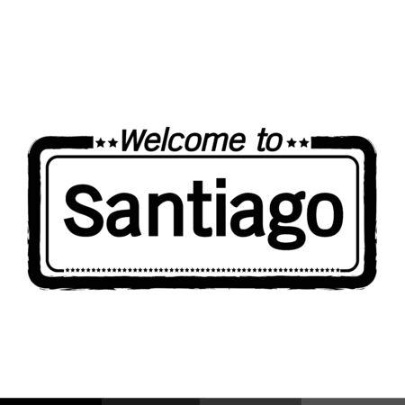 santiago: Welcome to Santiago city illustration design
