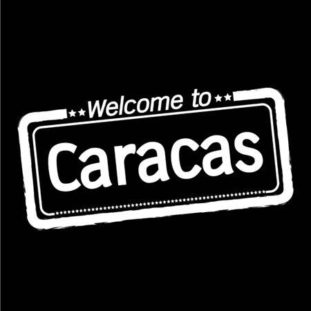 caracas: Welcome to Caracas City illustration design