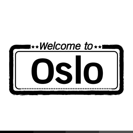 municipality: Welcome to Oslo City illustration design Illustration