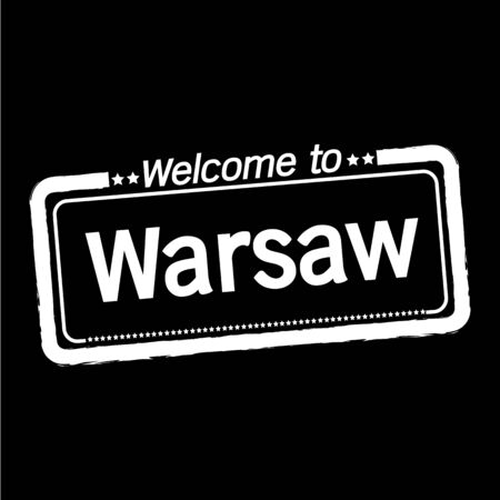warsaw: Welcome to Warsaw City illustration design