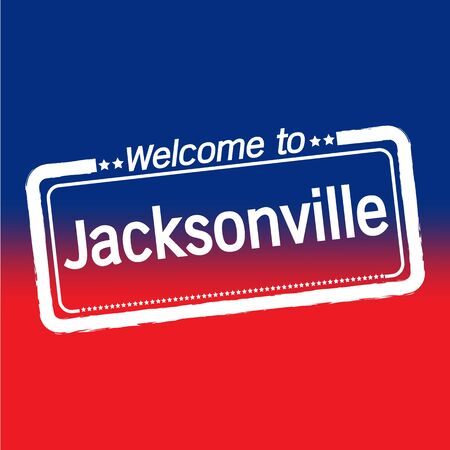 jacksonville: Welcome to Jacksonville City illustration design