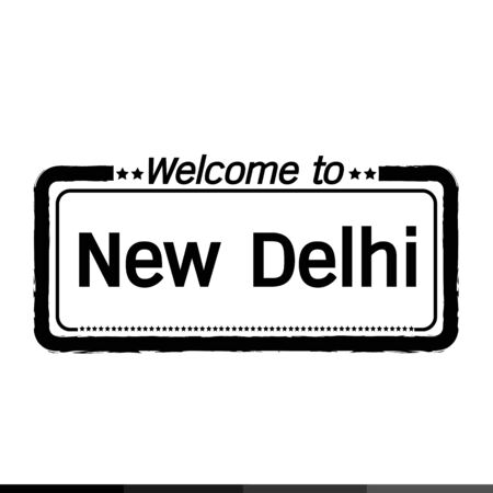municipality: Welcome to New Delhi city illustration design