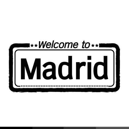 madrid: Welcome to Madrid City illustration design Illustration
