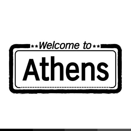 municipality: Welcome to Athens city illustration design