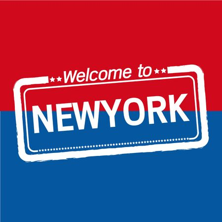 newyork: Welcome to NEWYORK of US State illustration design