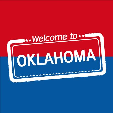 oklahoma: Welcome to OKLAHOMA of US State illustration design