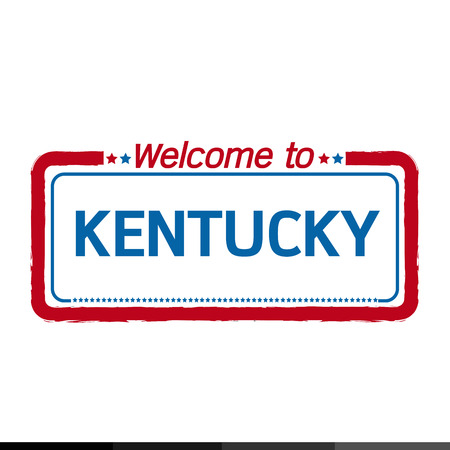 kentucky: Welcome to KENTUCKY of US State illustration design