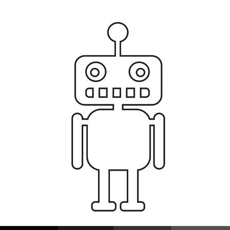 talking robot: Robot icon illustration design