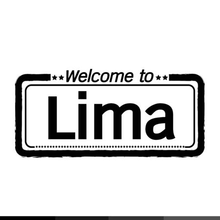lima province: Welcome to Lima City illustration design