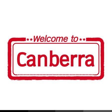 Canberra: Welcome to Canberra city illustration design Illustration