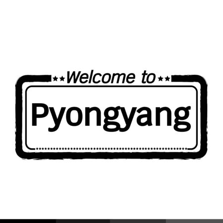 municipality: Welcome to Pyongyang City illustration design