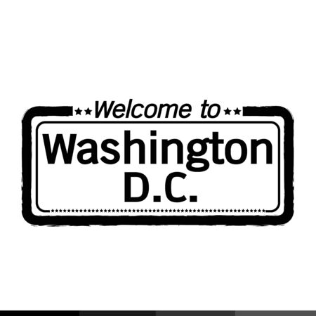dc: Welcome to Washington D.C. City illustration design