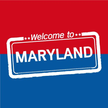 maryland: Welcome to MARYLAND of US State illustration design