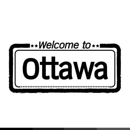 ottawa: Welcome to Ottawa city illustration design