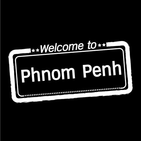 phnom penh: Welcome to Phnom Penh city illustration design