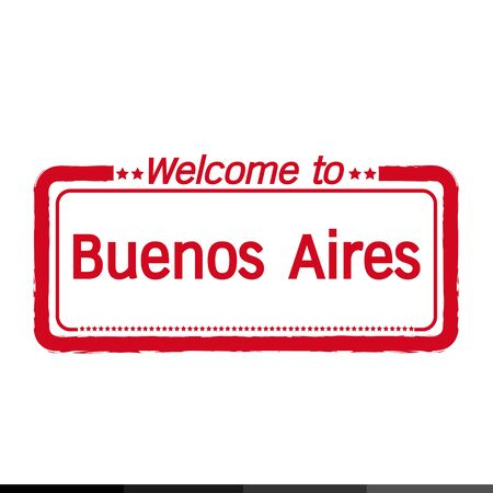 aires: Welcome to Buenos Aires city illustration design
