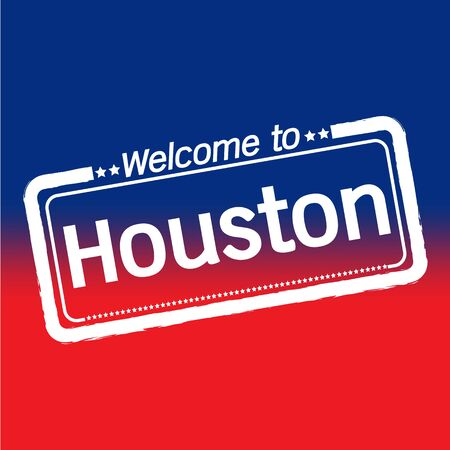 houston: Welcome to Houston City illustration design