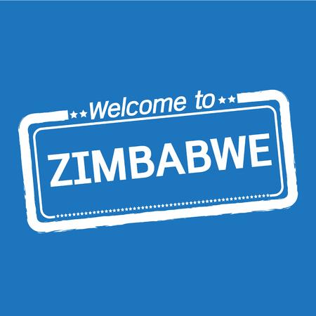 zimbabwe: Welcome to ZIMBABWE illustration design Illustration