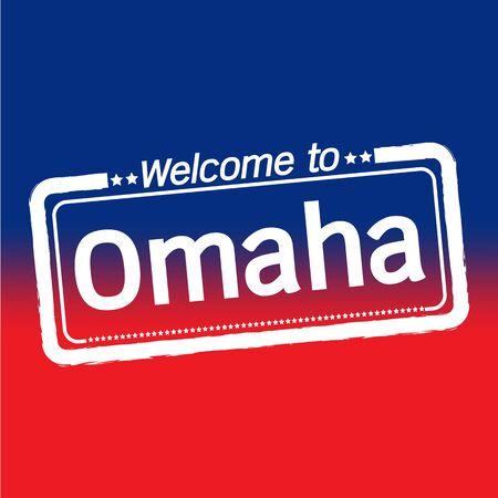 omaha: Welcome to Omaha City illustration design