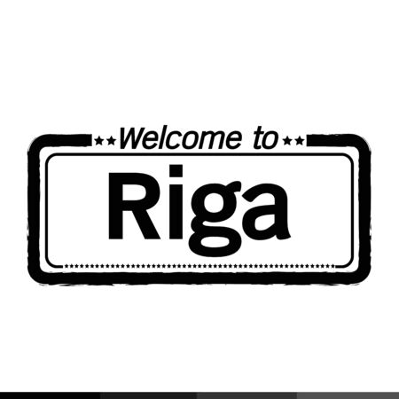 municipality: Welcome to Riga city illustration design