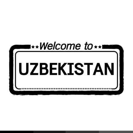 uzbekistan: Welcome to UZBEKISTAN illustration design Illustration