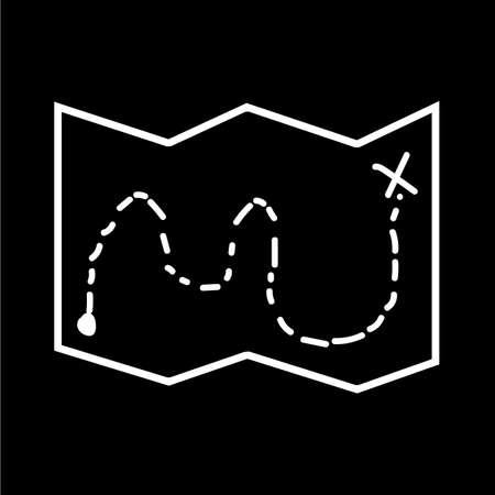Map icon illustration design