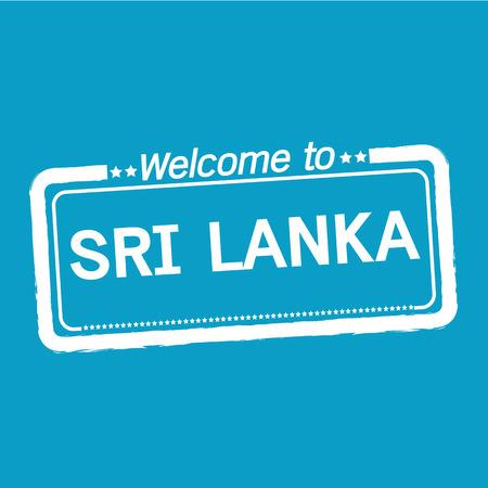 sri lanka: Welcome to SRI LANKA illustration design Illustration