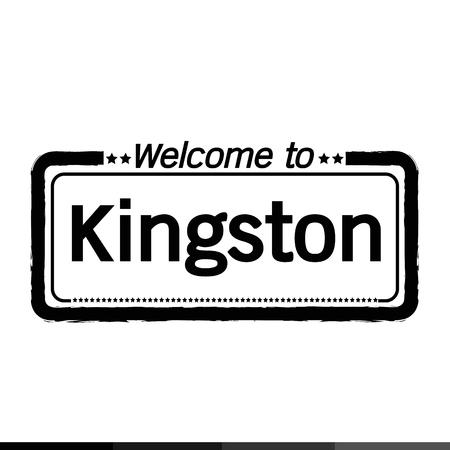 kingston: Welcome to Kingston city illustration design