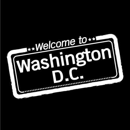dc: Welcome to Washington D.C. City illustration design