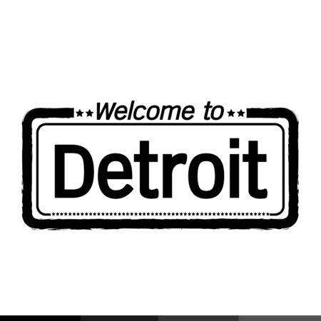 detroit: Welcome to Detroit City illustration design