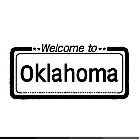 oklahoma city: Welcome to Oklahoma City illustration design Illustration