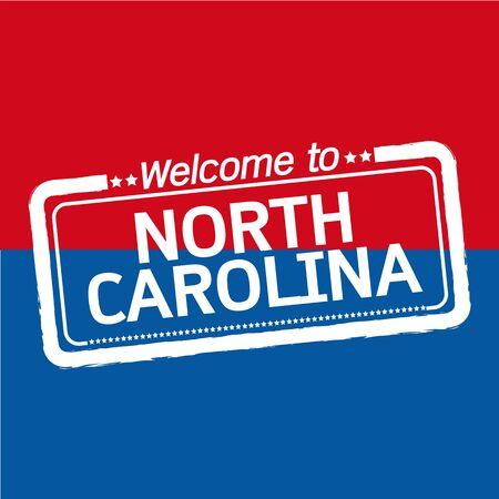 north carolina: Welcome to NORTH CAROLINA of US State illustration design Illustration