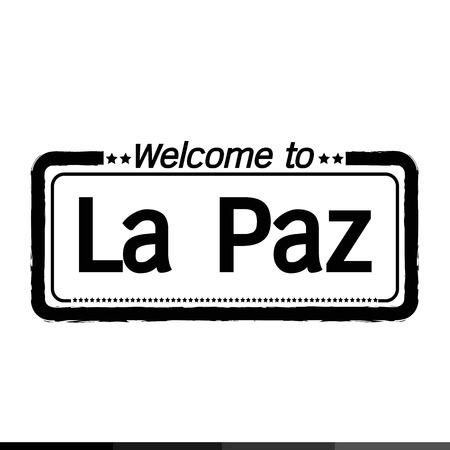 la: Welcome to La Paz city illustration design