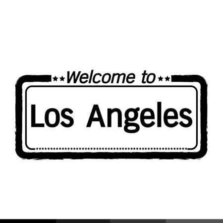 los angeles: Welcome to Los Angeles City illustration design Illustration