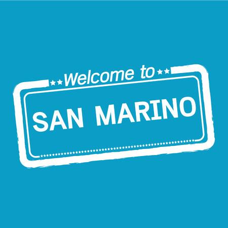 marino: Welcome to SAN MARINO illustration design Illustration