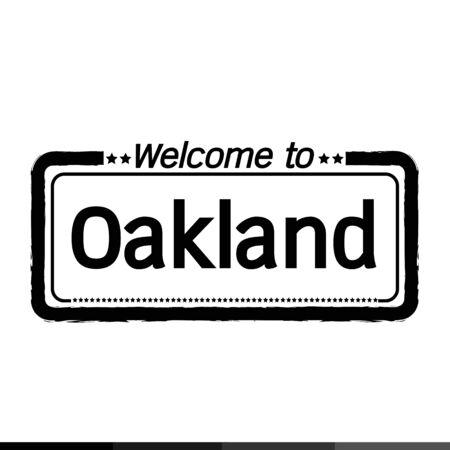 oakland: Welcome to Oakland City illustration design