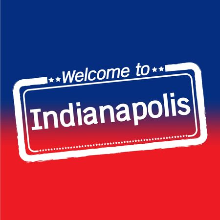 indianapolis: Welcome to Indianapolis City illustration design Illustration