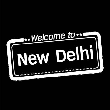 new delhi: Welcome to New Delhi city illustration design