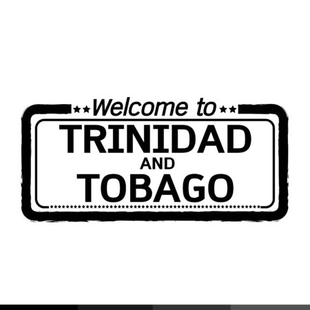 trinidad and tobago: Welcome to TRINIDAD AND TOBAGO illustration design Illustration