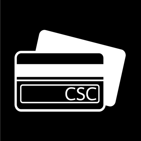 security code: Card Security Code CSC icon illustration design