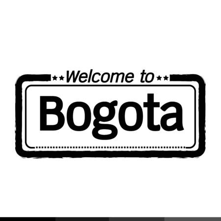 municipality: Welcome to Bogota city illustration design