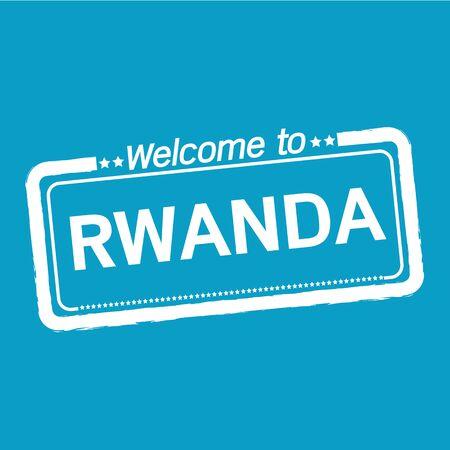 rwanda: Welcome to RWANDA illustration design