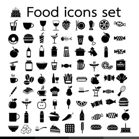 Food icon illustration design