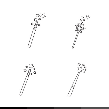 Magic Wand Icon illustration design