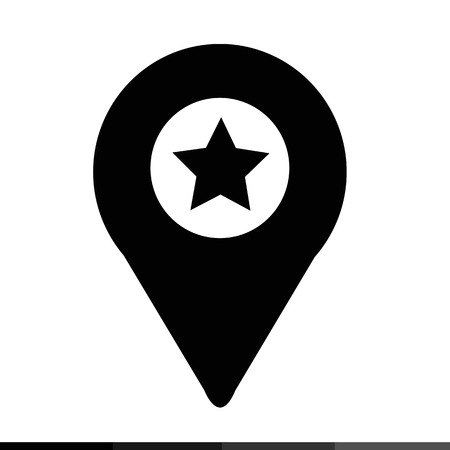 map pin: map pin icon illustration design