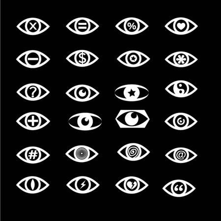 abstract symbolism: eye icon set illustration design